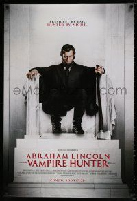 4d028 ABRAHAM LINCOLN: VAMPIRE HUNTER style B int'l advance DS 1sh '12 Walker in statue pose!