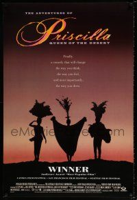 4d031 ADVENTURES OF PRISCILLA QUEEN OF THE DESERT DS 1sh '94 silhouette of Stamp, Weaving, Pearce!