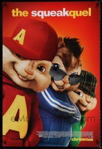 4d045 ALVIN & THE CHIPMUNKS: THE SQUEAKQUEL style C advance DS 1sh '09 great image of furry cast!