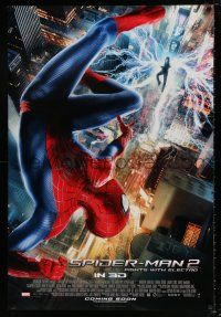 4d049 AMAZING SPIDER-MAN 2 int'l advance DS 1sh '14 Andrew Garfield, fights with Electro!