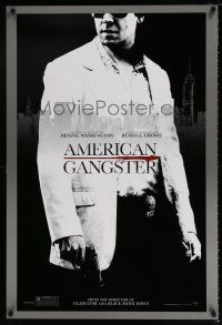 4d052 AMERICAN GANGSTER teaser 1sh '07 close-up of Russell Crowe, Ridley Scott directed!
