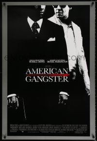4d051 AMERICAN GANGSTER int'l DS 1sh '07 Denzel Washington, Russell Crowe, Ridley Scott directed!
