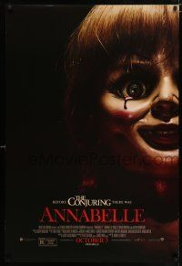 4d057 ANNABELLE advance DS 1sh '14 creepy horror image of possessed doll w/ bloody tear!