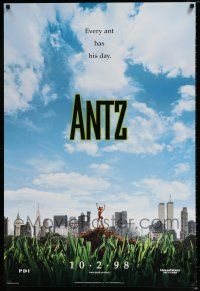 4d060 ANTZ advance 1sh '98 Woody Allen, computer insects, every ant has his day!