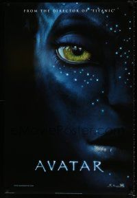 4d072 AVATAR style A int'l teaser DS 1sh '09 James Cameron directed, Zoe Saldana, cool image!