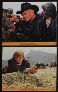 4e071 ADIOS SABATA 8 8x10 mini LCs '71 Yul Brynner aims to kill, and his gun does the rest!