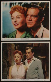 4e015 DUEL IN THE JUNGLE 12 color 8x10 stills '54 Dana Andrews & sexy Jeanne Crain in Africa!