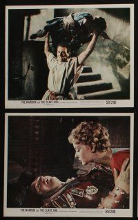 4e036 WARRIOR & THE SLAVE GIRL 12 color 8x10 stills '58 Gianna Maria Canale, mightiest Italian epic!