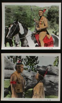 4e059 WHEN THE REDSKINS RODE 10 color 8x10 stills '52 Native American Jon Hall & Mary Castle!