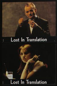 4g348 LOST IN TRANSLATION 8 French LCs '03 pretty Scarlett Johansson in Tokyo, Sofia Coppola!