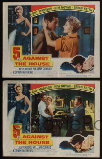 4k064 5 AGAINST THE HOUSE 8 LCs '55 great border art of super sexy Kim Novak, Reno Nevada!