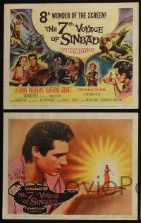 4k065 7th VOYAGE OF SINBAD 8 LCs '58 Ray Harryhausen, classic fantasy special effects images!