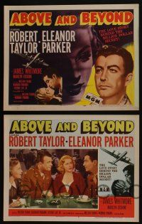 4k068 ABOVE & BEYOND 8 LCs '52 great images of pilot Robert Taylor & sexiest Eleanor Parker!