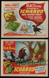 4k071 ADVENTURES OF ICHABOD & MISTER TOAD 8 LCs '49 BING and WALT wake up Sleepy Hollow with a BANG
