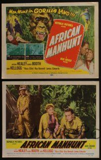 4k073 AFRICAN MANHUNT 8 LCs '54 in the forbidden jungle where no white man dared go!