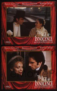 4k074 AGE OF INNOCENCE 8 LCs '93 Martin Scorsese, Daniel Day-Lewis, Winona Ryder