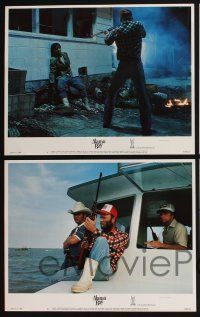4k076 ALAMO BAY 8 LCs '85 Vietnam veteran Ed Harris & Amy Madigan, directed by Louis Malle!