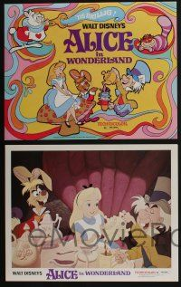 4k040 ALICE IN WONDERLAND 9 LCs R74 cool images from Walt Disney Lewis Carroll classic!