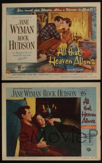 4k079 ALL THAT HEAVEN ALLOWS 8 LCs '55 Rock Hudson & Jane Wyman, directed by Douglas Sirk!
