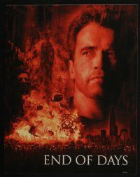 4k022 END OF DAYS 10 LCs '99 cool images of Arnold Schwarzenegger, Robin Tunney, Gabriel Byrne!