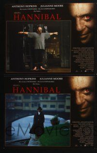 4k009 HANNIBAL 12 LCs '00 creepy Anthony Hopkins as Dr. Lector, Julianne Moore!