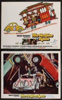 4k050 HERBIE RIDES AGAIN 9 LCs '74 Disney, Volkswagen Beetle, trying to catch the Love Bug!
