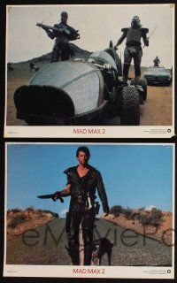 4k031 MAD MAX 2: THE ROAD WARRIOR 10 int'l LCs '81 George Miller, Mel Gibson returns as Mad Max!