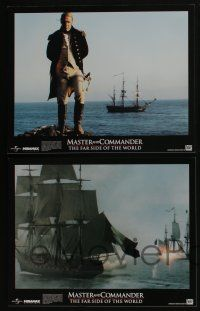 4k033 MASTER & COMMANDER 10 LCs '03 Russell Crowe, Paul Bettany, Peter Weir, Far Side of the World!