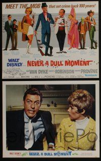 4k055 NEVER A DULL MOMENT 9 LCs '68 Disney, Dick Van Dyke, Edward G. Robinson, Dorothy Provine!