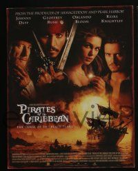 4k006 PIRATES OF THE CARIBBEAN 13 LCs '03 Johnny Depp as Jack Sparrow, Keira Knightley, Bloom!
