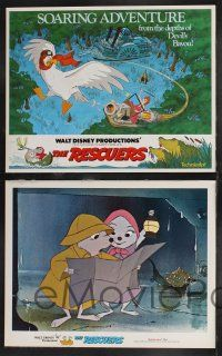 4k057 RESCUERS 9 LCs '77 Disney mouse mystery adventure cartoon, cool art of characters!