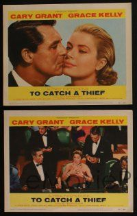 4k002 TO CATCH A THIEF 8 LCs '55 beautiful Grace Kelly & Cary Grant, directed by Alfred Hitchcock!