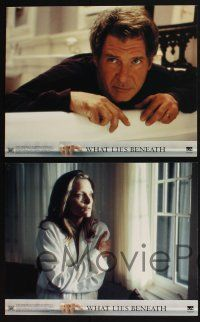 4k039 WHAT LIES BENEATH 10 LCs '00 Robert Zemeckis directed, Harrison Ford & Michelle Pfeiffer!