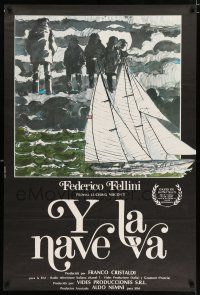 4p003 AND THE SHIP SAILS ON Argentinean '83 Federico Fellini's E la nave va, art by Fellini himself!