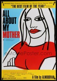 4p058 ALL ABOUT MY MOTHER Aust 1sh '00 Pedro Almodovar's Todo Sobre Mi Madre, cool art by Marine!