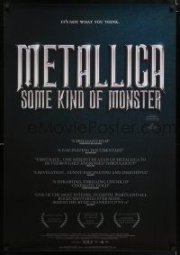 4p061 METALLICA: SOME KIND OF MONSTER DS Aust 1sh '04 rock 'n' roll documentary!