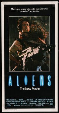 4p065 ALIENS Aust daybill '86 Cameron, there are some places in the universe you don't go alone!