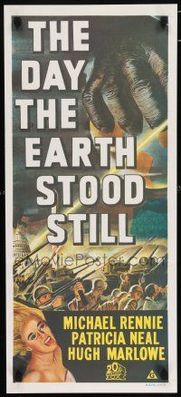 4p067 DAY THE EARTH STOOD STILL Aust daybill R70s Robert Wise, art of giant hand & Patricia Neal!