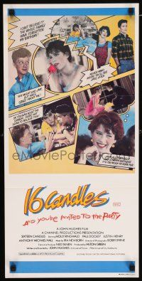4p070 SIXTEEN CANDLES Aust daybill '84 Molly Ringwald, Anthony Michael Hall, John Hughes directed!