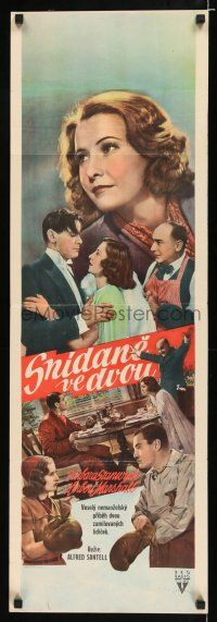 4p006 BREAKFAST FOR TWO Czech 13x38 '37 Barbara Stanwyck & Herbert Marshall boxing, cast montage!