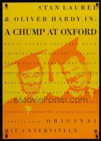 4p073 CHUMP AT OXFORD German R90s great image of Laurel & Hardy wearing cap and gown!