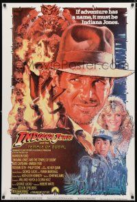 4p002 INDIANA JONES & THE TEMPLE OF DOOM Lebanese '84 art of Harrison Ford & Capshaw by Drew!