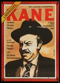 4p044 CITIZEN KANE Polish 26x36 R87 cool Time Magazine art of Orson Welles by Marszatek!