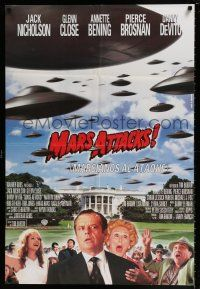4p010 MARS ATTACKS! South American '96 directed by Tim Burton, Jack Nicholson, Glenn Close!