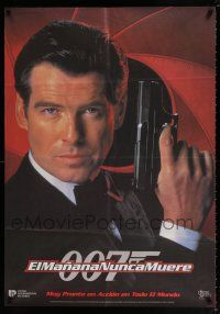 4p011 TOMORROW NEVER DIES South American '97 close-up of Pierce Brosnan as James Bond 007!