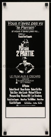 4p024 GODFATHER PART II French Swiss '74 Al Pacino in Francis Ford Coppola classic crime sequel!