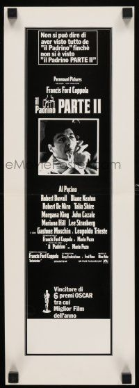 4p026 GODFATHER PART II Italian Swiss '74 Al Pacino in Francis Ford Coppola classic crime sequel!