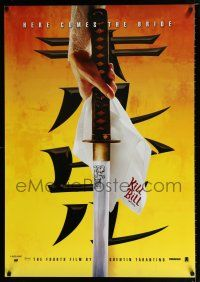 4p033 KILL BILL: VOL. 1 teaser DS Thai poster '03 Quentin Tarantino, best close up image of katana!