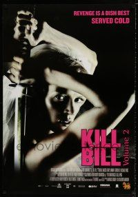4p034 KILL BILL: VOL. 2 DS Thai poster '04 Uma Thurman with katana, Tarantino!