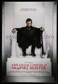 4r016 ABRAHAM LINCOLN: VAMPIRE HUNTER style B int'l advance DS 1sh '12 Walker in statue pose!